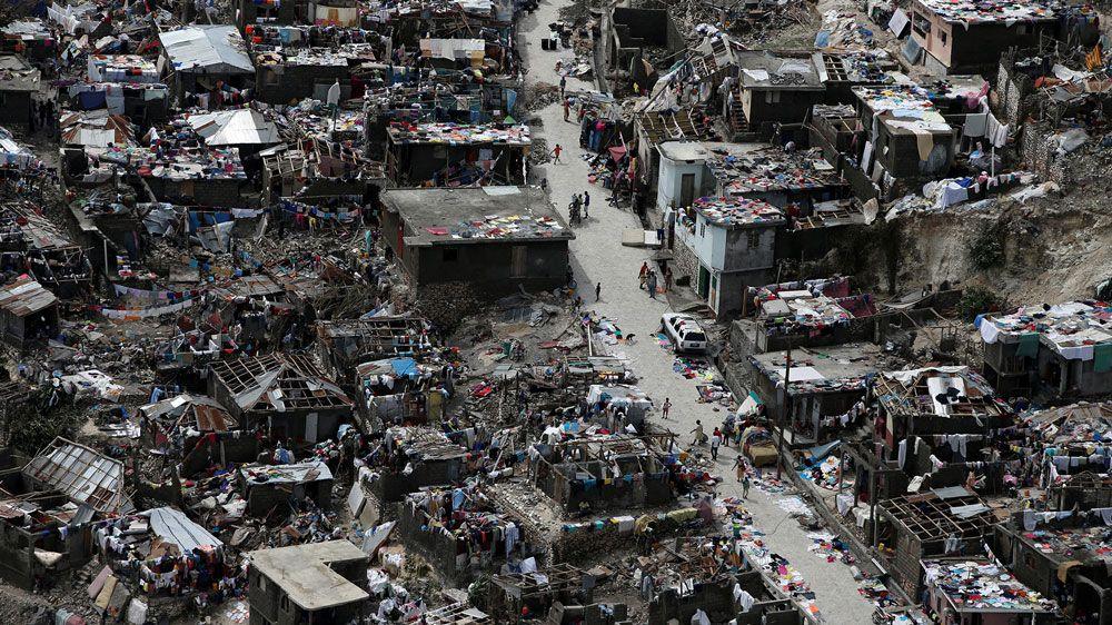 La destrucción del huracán Matthew en Haití.