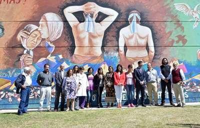 El Ministerio de Derechos Humanos inauguró un mural por la Memoria.