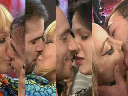 """Beso a beso"" en ShowMatch"