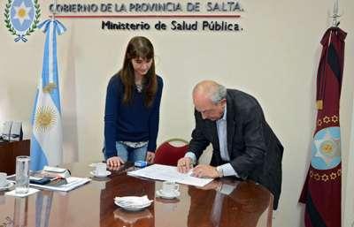Salud firmó un convenio con la Fundación del Hospital Garrahan.