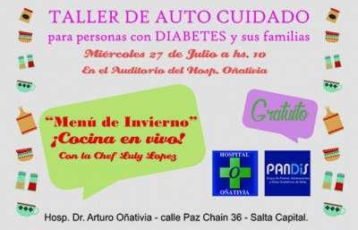 Taller de autocuidado en diabetes en el hospital Oñativia