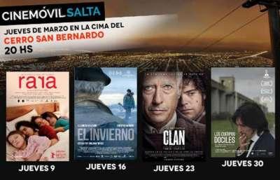 Programa del Cine Móvil durante marzo en el Mirador del Cerro