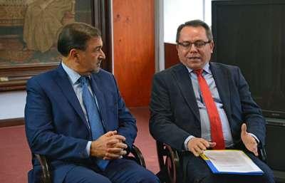 El Vicegobernador Miguel Isa recibió al Embajador de Ucrania en Argentina