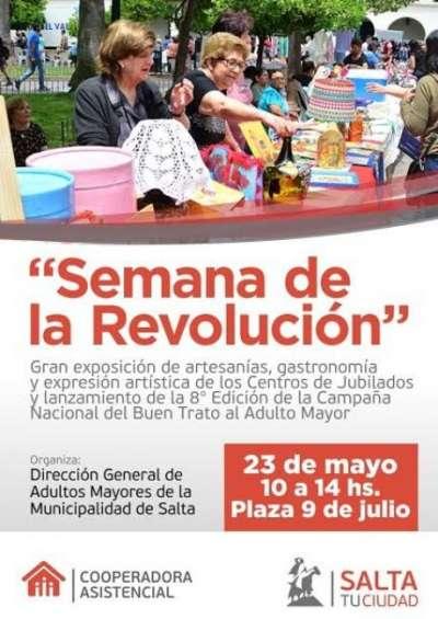 Los centros de jubilados conmemoran la Revolución de Mayo