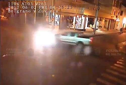 El Video del terrible choque en el microcentro de Salta