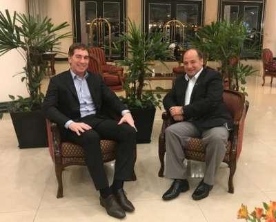 Villada con el vicejefe de la Ciudad de Buenos Aires, Diego Santilli