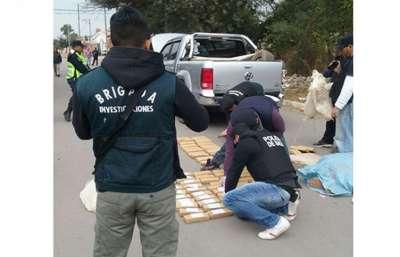 La Policía secuestró alrededor de 150 kilos de marihuana