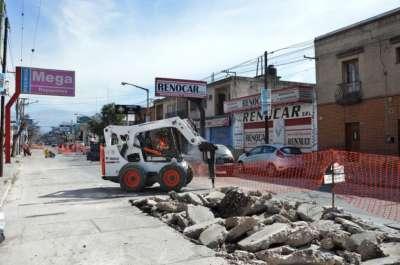 Avanzan las obras de la comuna sobre avenida San Martín