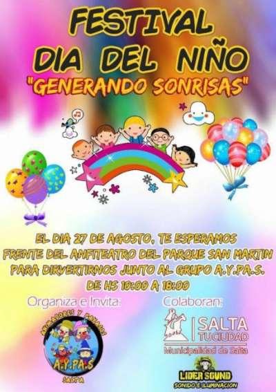 """Domingo 27: festival Día del Niño """"Generando sonrisas"""""""