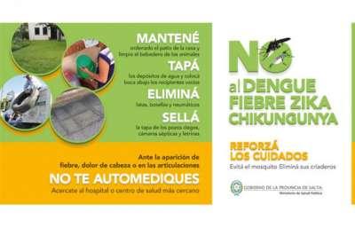 Solicitan extremar las medidas de prevención del zika, dengue y chikungunya