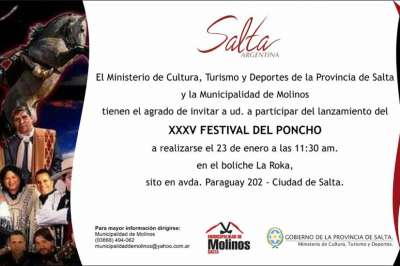 Molinos presentará hoy una nueva edición del Festival del Poncho