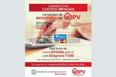 Moratoria: obtené tu turno en el IPV para reducir el 100% de los intereses