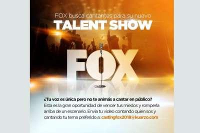 Fox llegará a Salta en busca de cantantes para su nuevo reality