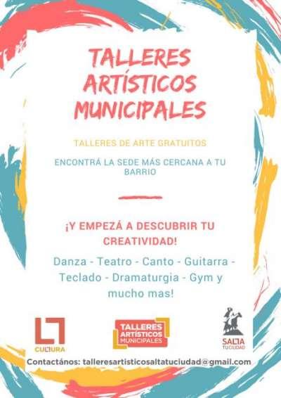 Están abiertas las inscripciones para los talleres artísticos municipales