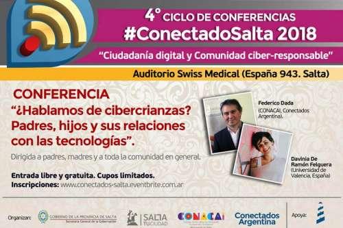 Inicia el ciclo #ConectadoSalta con una conferencia para padres